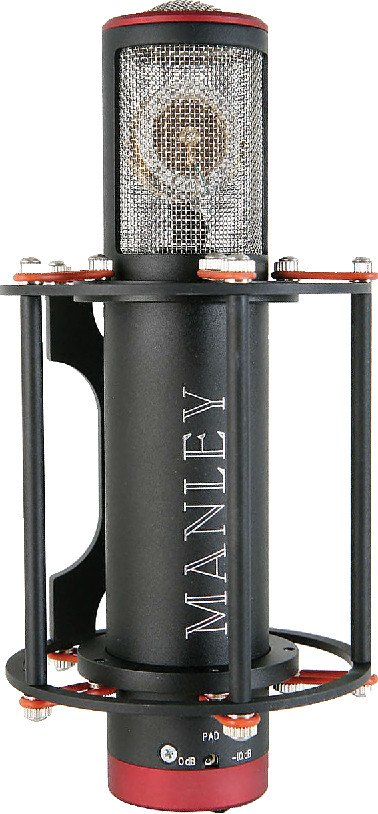 Manley Laboratories REFCARD Reference Cardioid Microphone in Black with Power Supply REFCARD