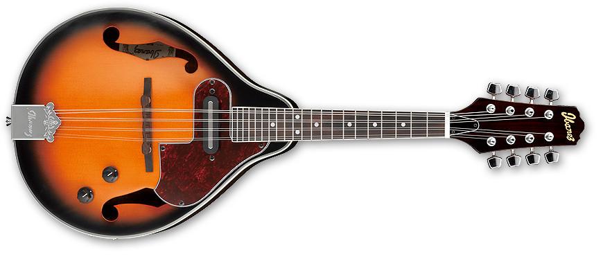 Brown Sunburst 4-Course Acoustic/Electric Mandolin
