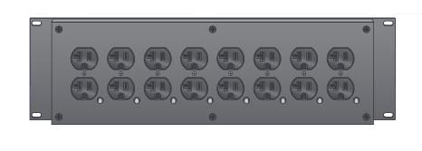 3RU Enclosed Rackmount Power Distribution Module