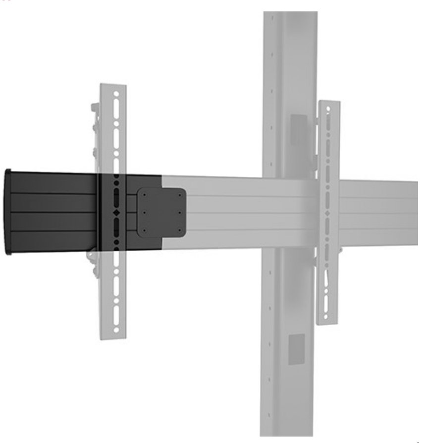 "20"" FUSION™ Freestanding and Ceiling Extension Brackets in Black"