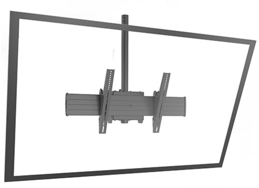 FUSION™ X-Large Single Pole Flat Panel Ceiling Mount
