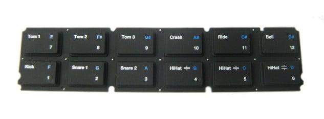 Rubber Drum Keypad For SR18