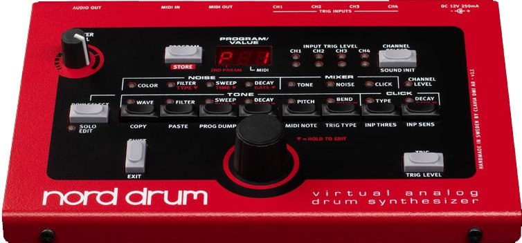 4-Channel Drum Synthesizer