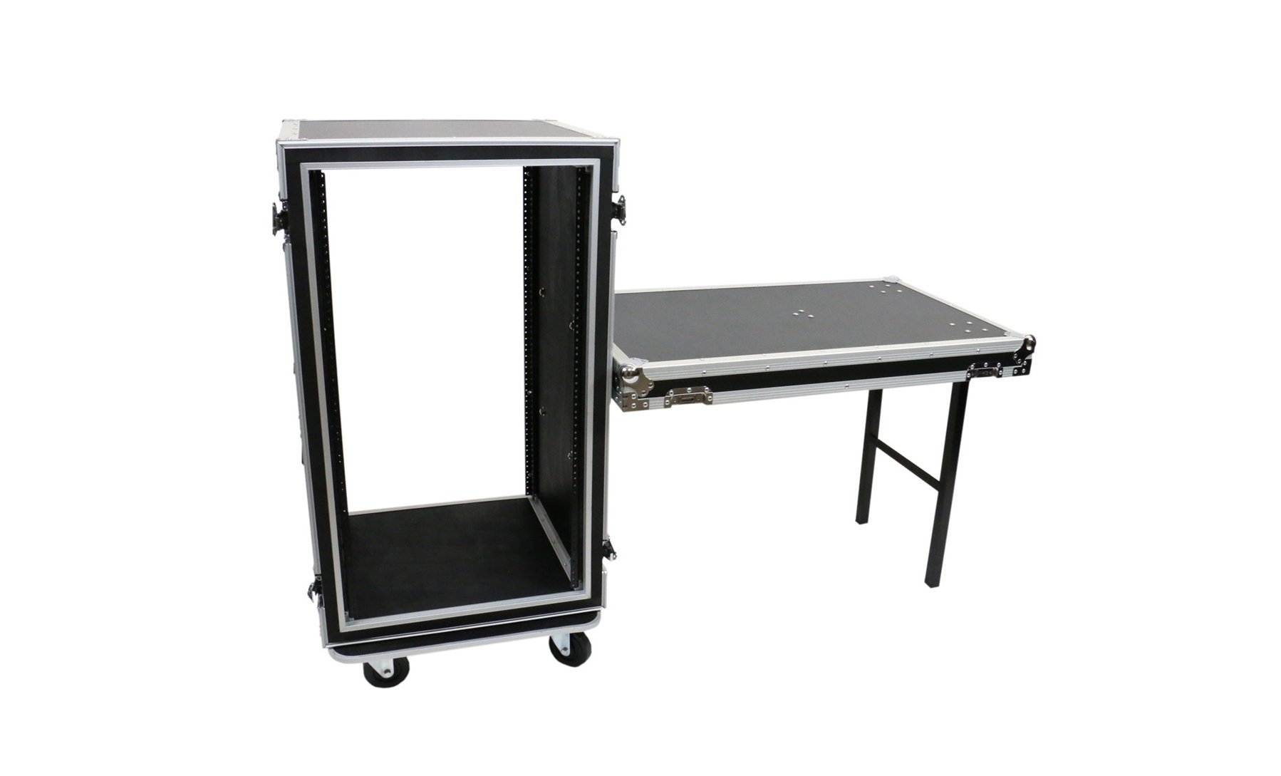 20-Space ATA Amp Rack with Casters & Standing Lid