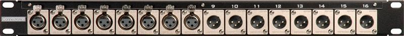 TecNec 16CJ-X12F  16-Point 8 XLR-F to 8 XLR-M Patchbay 16CJ-X12F