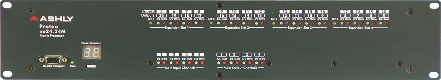 Ashly ne24.24M 12X8 Networkable Matrix Processor with 12 in and 8 Out NE24.24M-12X8