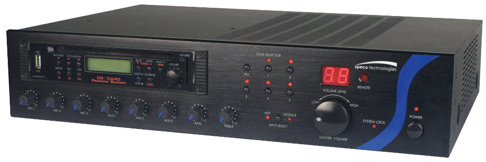 120 Watt RMS PA Amplifier with Tuner, CD, and USB