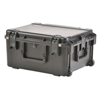 "22"" L x 17"" W x 10"" D Mil-Std Waterproof Case with Wheels and Divider in Gray"
