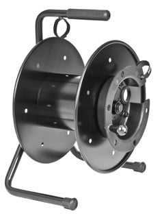 Cable Reel in Black with Extender
