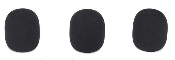 3 Pack of Black Windscreens for the SE10 and SE50 Earset Microphones