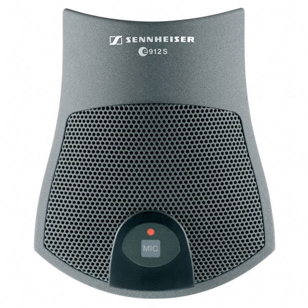 Polarized Condenser Boundary Microphone with Switch in Nextel Gray