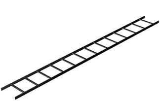 "6` Long 18"" Wide Cable Ladder in Black"