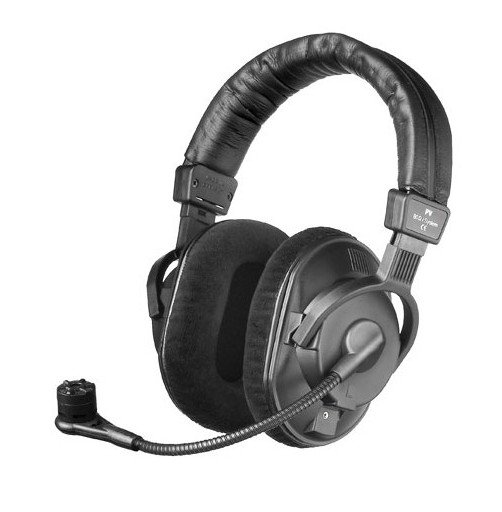 Broadcast Headset with Condenser Microphone