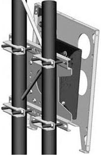 Large Universal Tilting Truss Mount for Flat Panel Monitors