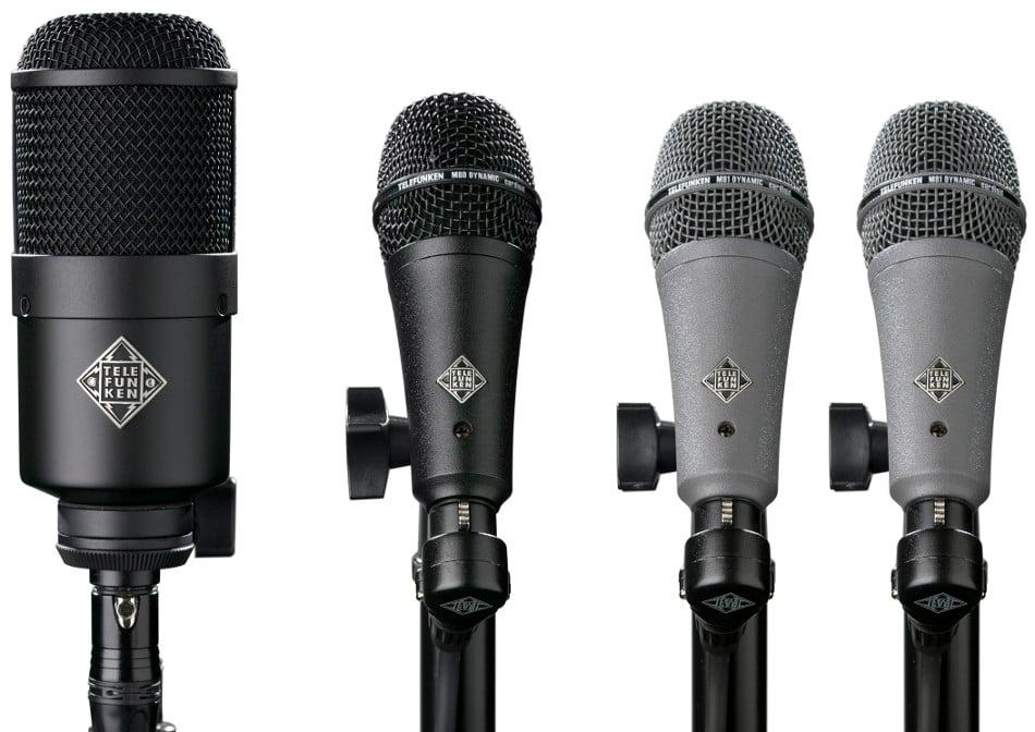 4 Piece Dynamic Drum Microphone Set