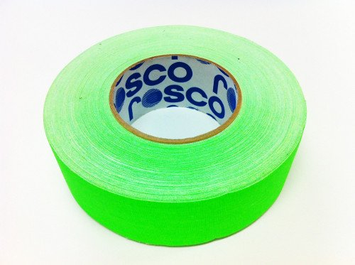 24 Rolls of 48mmx50m Gaffer's Tape in Fluorescent Green