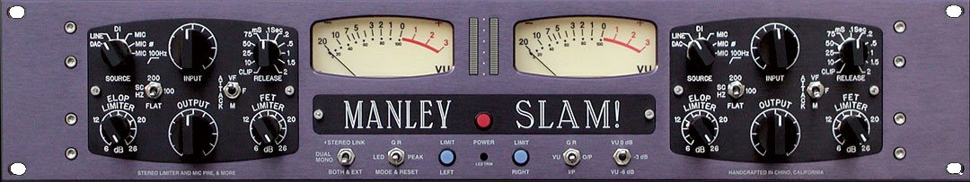 Manley Laboratories MMSLAM  Slam Preamp/DI/Limiter,Master  MMSLAM