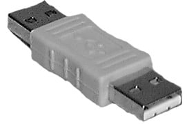 Male to Male USB Type A Passive Adapter