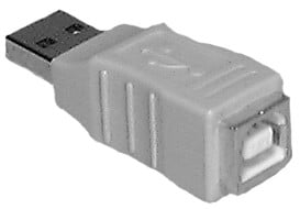 Type A Male to Type B Female USB Passive Adapter