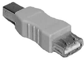 Type A Female to Type B Male USB Passive Adapter