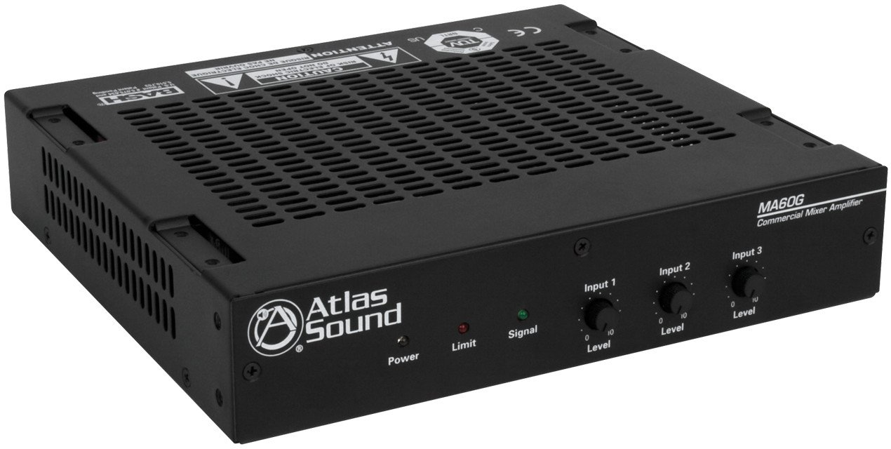60W 3 Channel Mixer Amplifier
