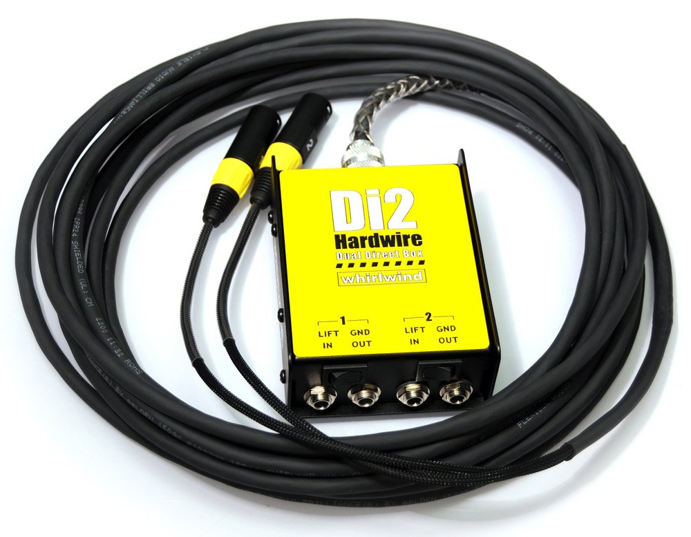 25ft 2-Channel DI-XLR Box-to-Fan Snake