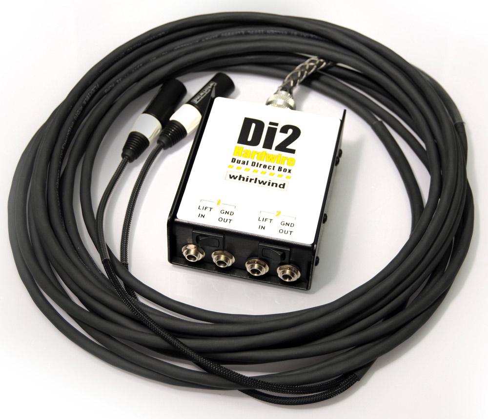 15ft 2-Channel DI-XLR Box-to-Fan Snake