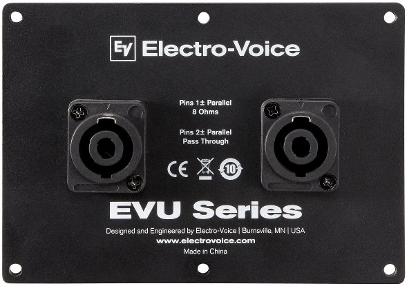Dual NL4 Connector Cover Plate for EVU Series Speakers