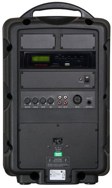 Traveler 8 PA System with SD Card and USB Player