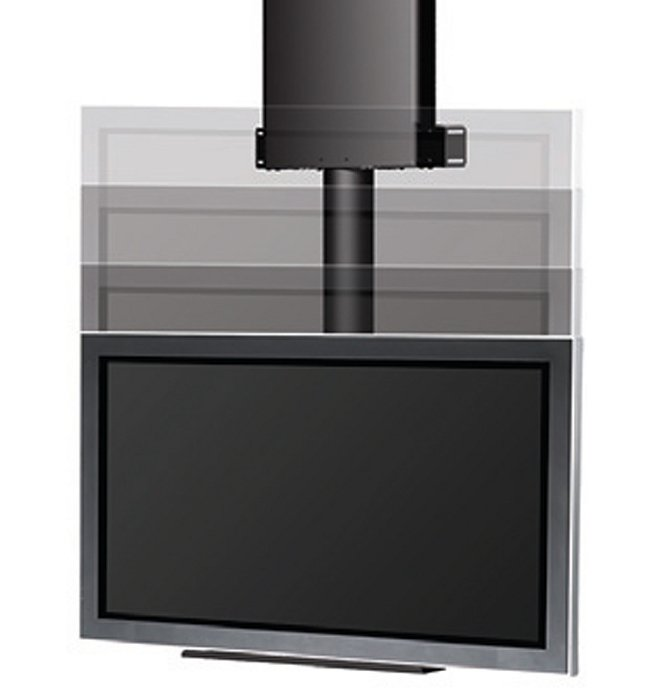 """32 - 61"""" Automated Ceiling Lift for Display Mount in Black"""