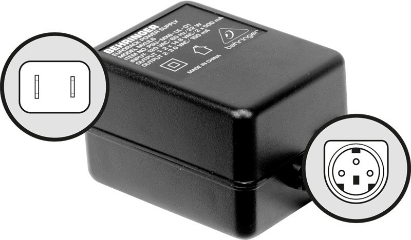 behringer psu6ul 120v ul power supply for analog mixers full compass systems. Black Bedroom Furniture Sets. Home Design Ideas
