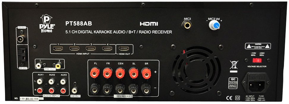 5.1 Channel Receiver with HDMI, Bluetooth and AM/FM Radio