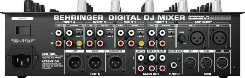 5-Channel DJ Mixer with Sampler