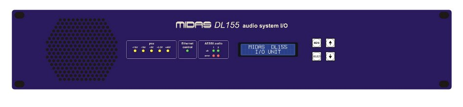 8-Input/8-Output/8-AES/EBU Stagebox with MIDAS Mic Preamps and Dual-Redundant AES50 Networking