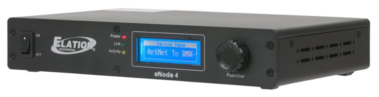 Elation Pro Lighting ENODE-4 4-Universe Artnet/sACN to DMX Interface ENODE-4