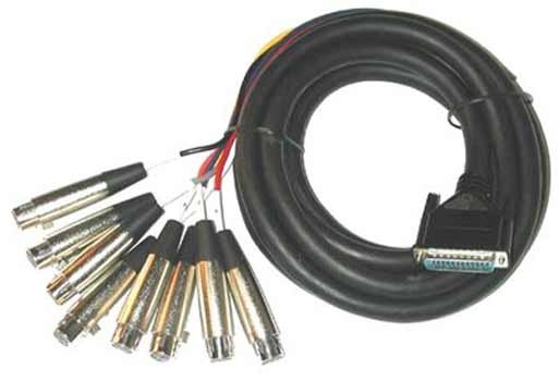 13ft 25-Pin to 8 Female XLR Cable