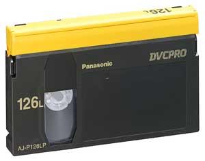 Panasonic AJP126L Large DVCPRO Cassette, 126 Minutes AJP126L