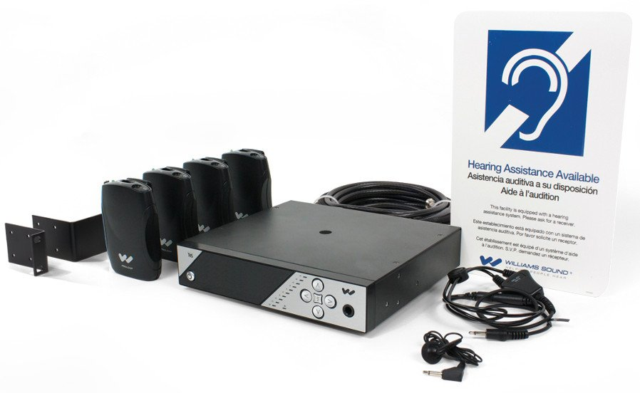 Personal PA FM Assistive Listening System with Antenna & Rack Kit