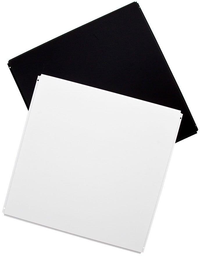 Six Silk Metal Ceiling Tiles in Black