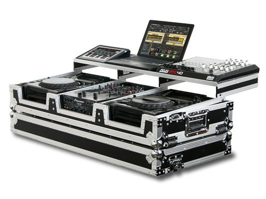 "Remixer Glide Style Series CD/Digital Media DJ Coffin Case for 2 Large-Format Table Top CD/Digital Media Players & 10"" Wide Mixer"