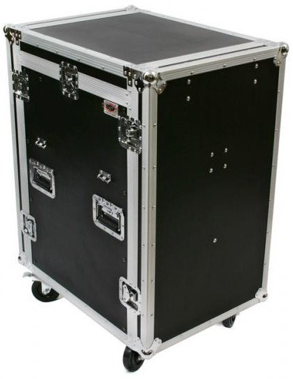 Elite Core Audio MC12U-16SL ATA Mixer / Amp Rack with 12 RU Slanted Top, 16 RU Bottom and Table MC12U-16SL