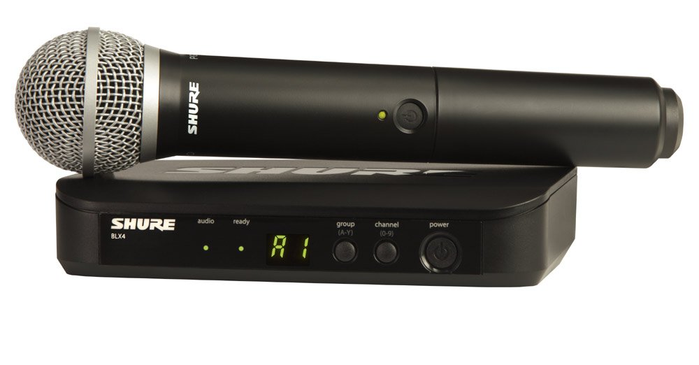 Wireless System with PG58 Handheld Microphone Transmitter & BLX2 Transmitter, 584-608 MHz