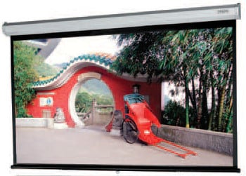 "78"" x 139"" Model C Matte White HDTV Manual Wall Screen with Controlled Screen Return"