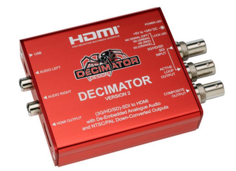 Decimator Design Decimator 2 Miniature 3G/HD/SD-SDI to HDMI Converter DEC-DECIMATOR-2