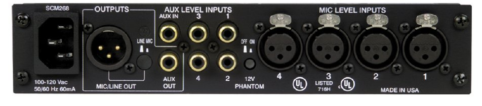 4-Channel Microphone Mixer