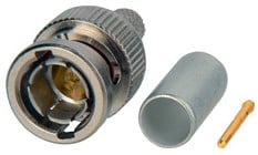 75 Ohm Straight BNC Connector with Notched Bayonet for 734, 1505A Cable Type