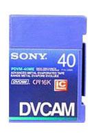 DVCAM Mini Video Cassette, 40 Mins.