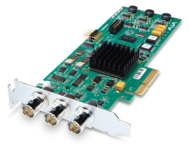 Low Profile PCIe 4x Card for 8/10-bit Uncompressed Digital SD - HD I/O