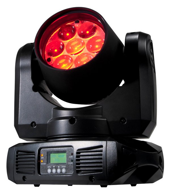 7 x 10W LED Moving Head Wash with Motorized Zoom