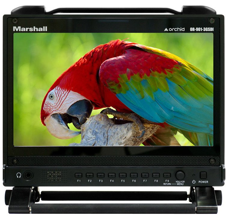 "9"" Orchid LCD Field Monitor with Dual 3G-SDI Outputs"